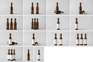 Beer Bottle Mock-Up Photo Bundle 7