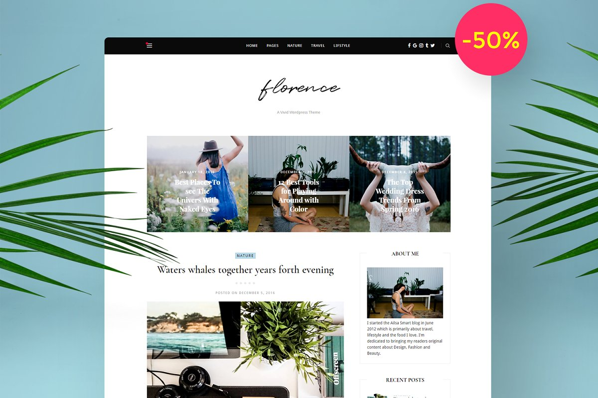 Florence - WordPress Blog Theme ~ WordPress Blog Themes ~ Creative