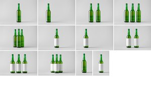 Beer Bottle Mock-Up Photo Bundle 5