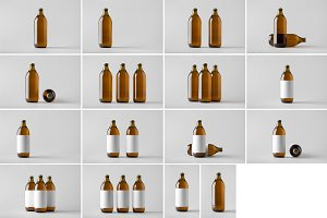 Beer Bottle Mock-Up Photo Bundle 4