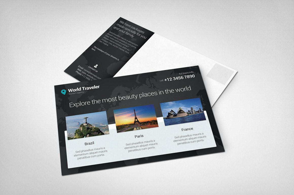 Post card mockup 4 product mockups creative market reheart Image collections