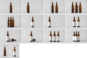 Beer Bottle Mock-Up Photo Bundle