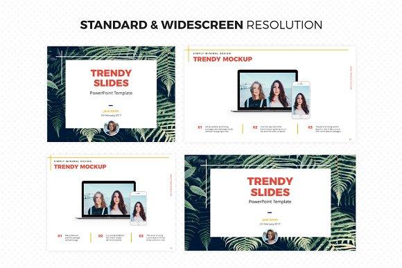 trendy slides powerpoint template presentation templates
