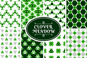 Clover Meadow: Seamless Patterns