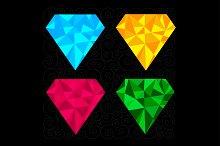 Set of four diamonds.