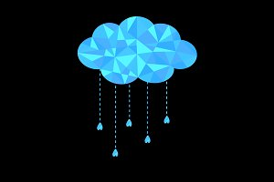Cloud with hanging drops.