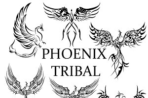 Phoenix Tribal Tattoo Bundle
