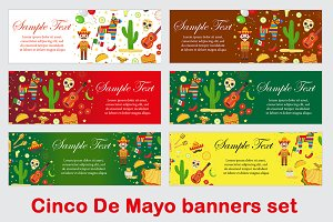 Cinco de Mayo banners set