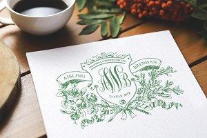 Irish Rose Vintage Wedding Logo