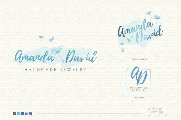 Watercolor Logo & Business Card - 02