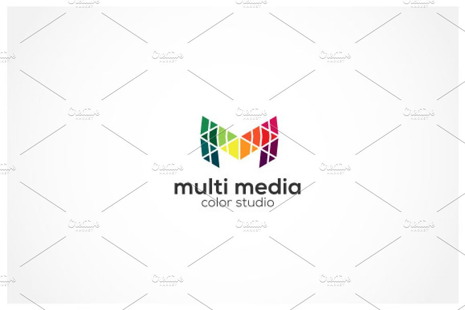 Multimedia M Logo in Logo Templates - product preview 8