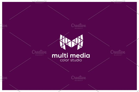 Multimedia M Logo in Logo Templates - product preview 1