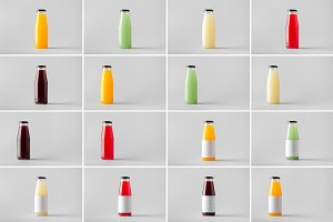 Juice Bottle Mock-Up Photo Bundle