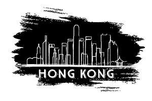 Hong Kong Skyline Silhouette.