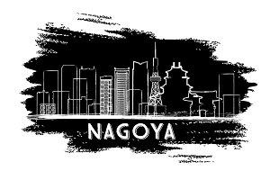 Nagoya Skyline Silhouette.