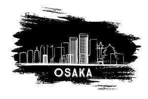 Osaka Skyline Silhouette.