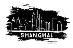 Shanghai Skyline Silhouette.