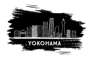 Yokohama Skyline Silhouette.