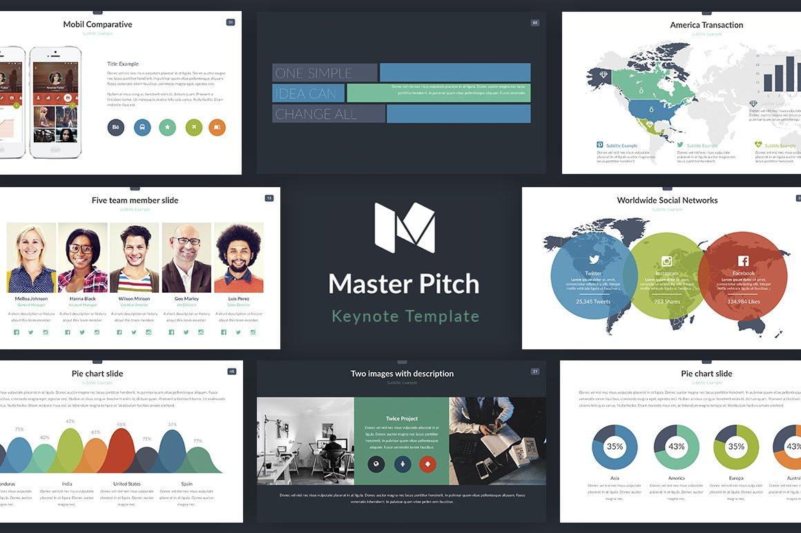Master Pitch Keynote Presentation ~ Presentation Templates ...