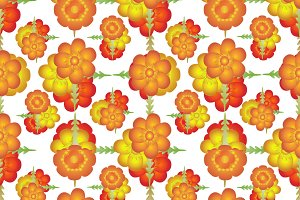 Colorful Stylized Floral Pattern