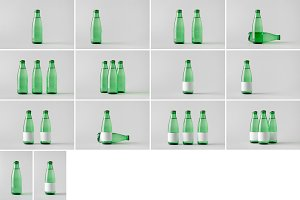 Water Bottle Mock-Up Photo Bundle 4