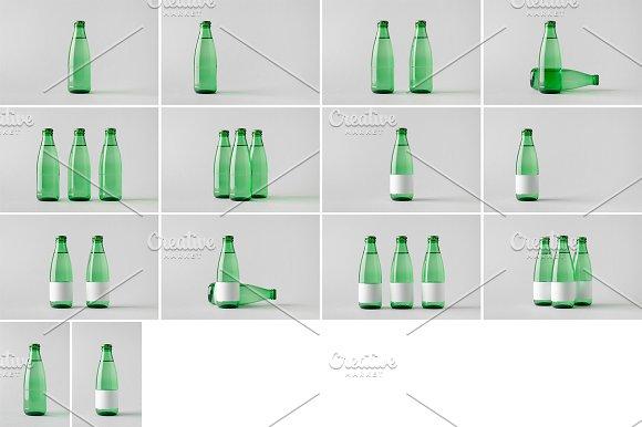 Water Bottle Mock-Up Photo Bundle 4