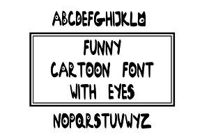 Eyes Font. Cartoon font.