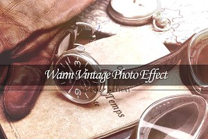 Warm Vintage Photo Effect