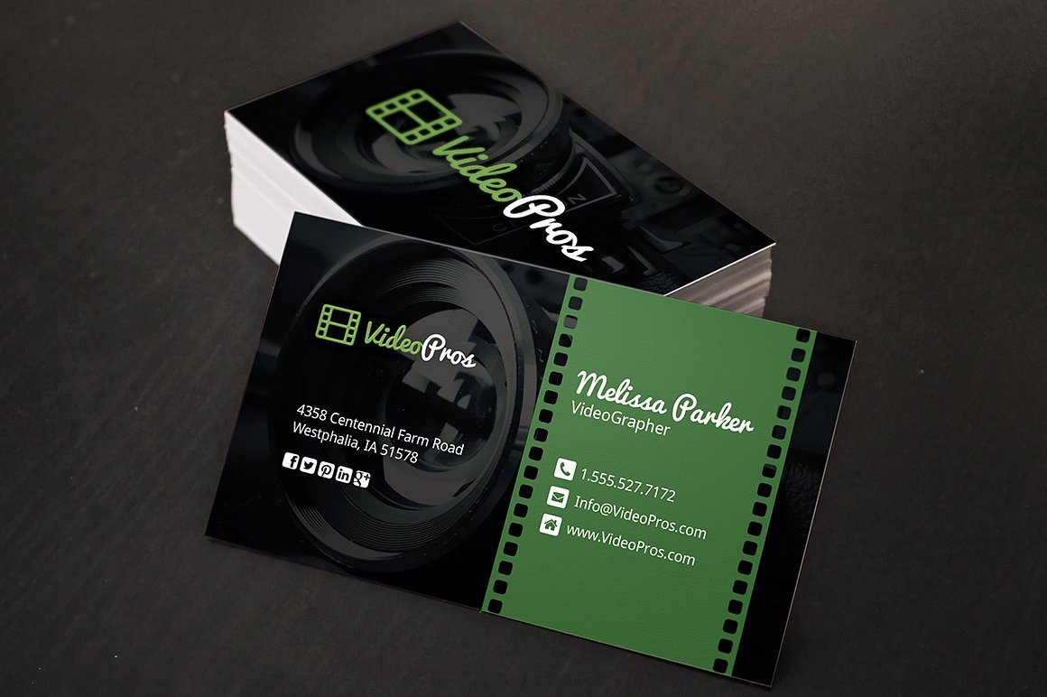 Videography business card business card templates creative market reheart Choice Image