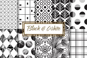 Black & White Seamless Patterns