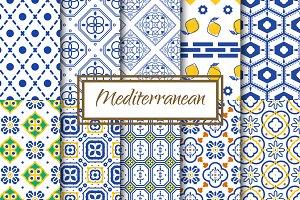 Mediterranean Seamless Patterns