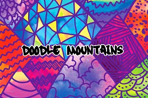 5 Doodle Mountain Illustrations