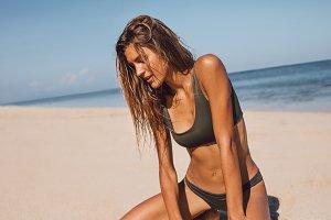 Beautiful  female model in bikini