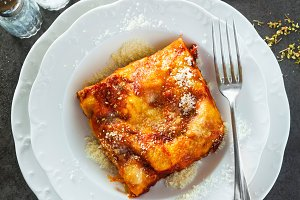 Lasagne with cheese
