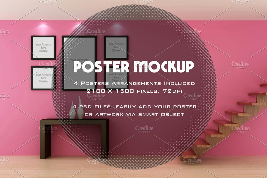 Poster / Artwork interior mockup in Print Mockups - product preview 8
