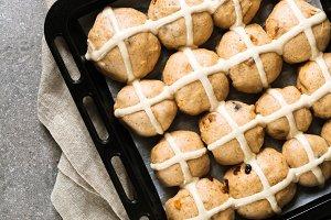 preparing of Homemade Hot Cross Buns