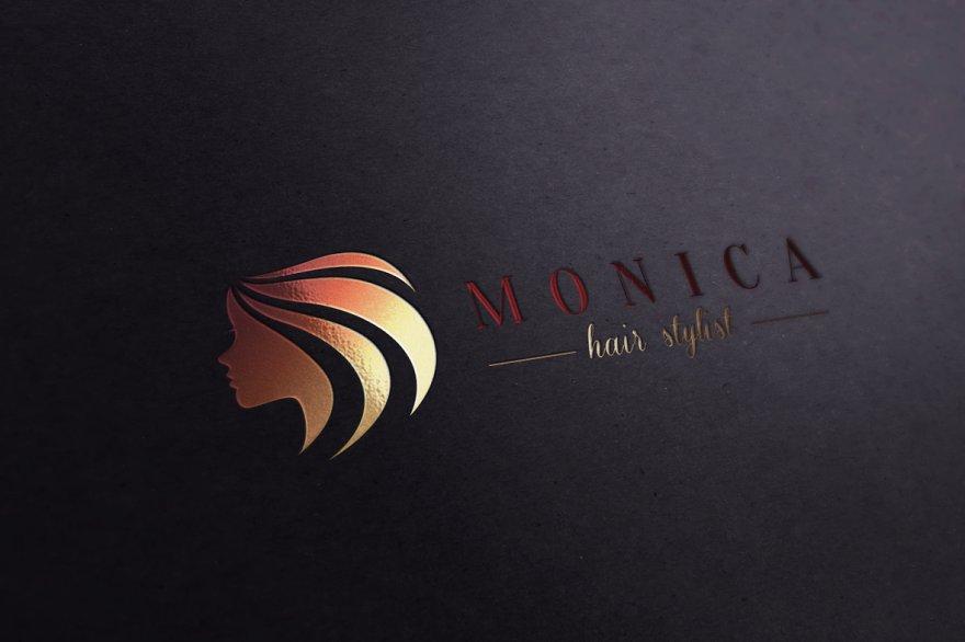 E letter hair and makeup logo logo templates creative market pro beauty salon thecheapjerseys Gallery
