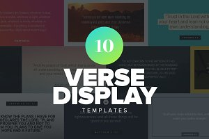 Verse Display Templates