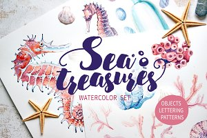 SEA TREASURES Watercolor set