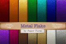 Metal flake gradient effect