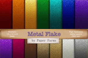 Metal flake gradient effect
