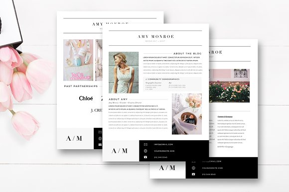 4-Page Blogger Media Kit Template