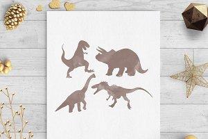 dinosaur watercolor clip art svg png