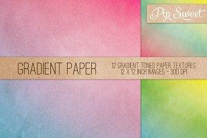 Gradient Paper Texture 12 Set