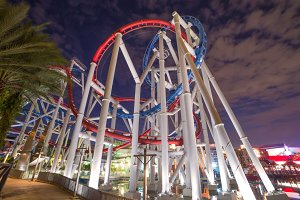 tracks of Roller coaster