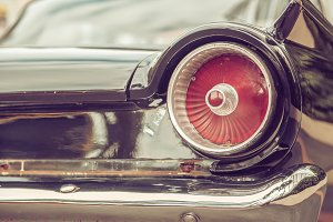 tail lamp of retro classic car