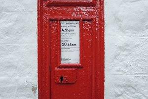 English Red Mail Box