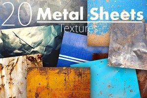 20 Metal Sheets Textures