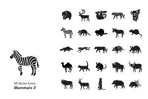 Mammals II vector icons