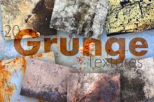 20 Grunge Textures Pack